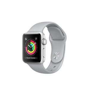 Apple Watch (Series 3) 42 mm - Aluminium Silber - Armband Sportarmband Grau