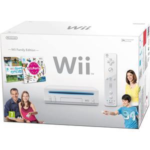 Konsoli Nintendo Wii +1 Ohjain + Wii Sports + Wii Party - Valkoinen