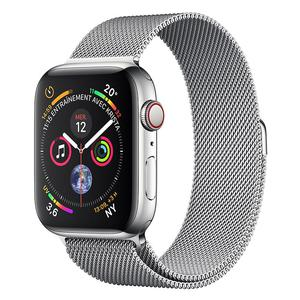 Apple Watch (Series 4) September 2018 44 mm - Roestvrij staal Zilver - Armband Milanees Zilver