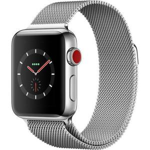 Apple Watch (Series 3) 42 mm - Acero inoxidable Plata - Correa Milanesa Plata