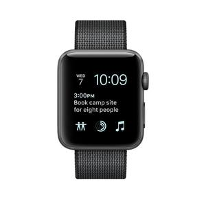 Apple Watch (Series 4) 44 mm - Aluminium Space Grau - Armband Sportarmband Schwarz