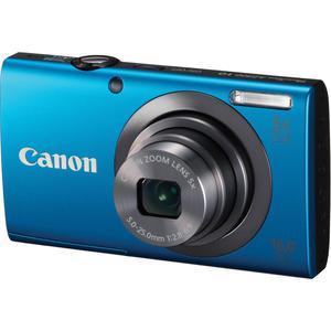 Fotocamera compatta Canon PowerShot A2300 - Blu + Obiettivo Canon Zoom Lens 28-140 mm f/2.8-6.9