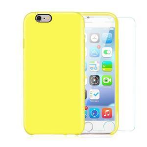 Pack iPhone 6 Plus / iPhone 6S Plus Silikon Hülle Gelb + gehärtetes Glas