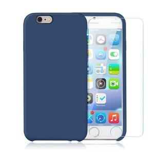 Pack iPhone 6 Plus / iPhone 6S Plus Silikon Hülle Kobaltblau + gehärtetem Glas