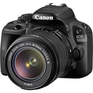 Reflex - Canon EOS 100D - Noir + Objectif EF-S 18-55 mm f/3,5-5,6 III