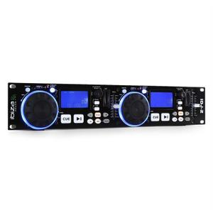 Ibiza Sound IDJ2 Twin USB/SD-Media-Controller mit Scratch - Schwarz