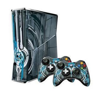 Console Microsoft Xbox 360 Halo 4 Limited Edition - 2 controllers + spel Halo 4 - Blauw/Grijs