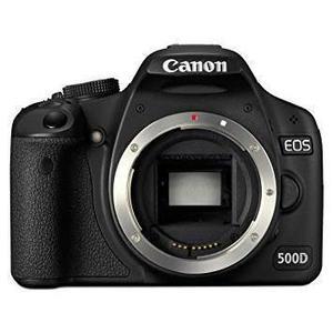 Yksisilmäinen peiliheijastuskamera Canon EOS 500D vain vartalo - Musta