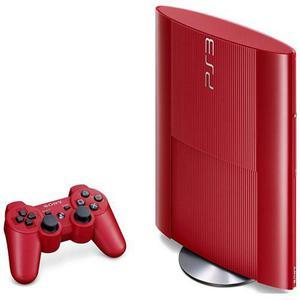 Kotikonsoli Sony PlayStation 3 Ultra Slim 500 GB + Ohjain - Punainen