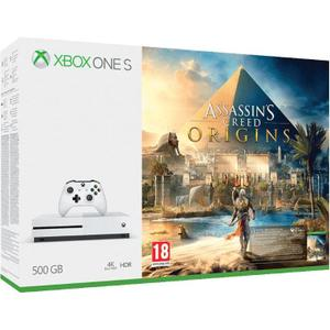 Console - Microsoft Xbox one S 500 Go + Manette + Jeu assassin's creed origins - Blanc