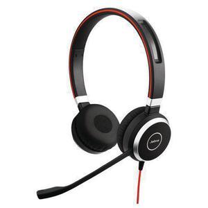Evolve 40 Geluidsdemper Hoofdtelefoon - Bluetooth Microfoon Zwart/Rood