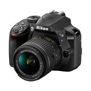 Reflex - Nikon D3400 -  Nero + Obiettivo - Nikon Nikkor DX - VR - 18-55 mm - 1: 3.5-5.6G