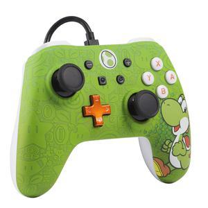 Controlador con cable para Nintendo Switch PowerA Yoshi iConic - Verde/Blanco