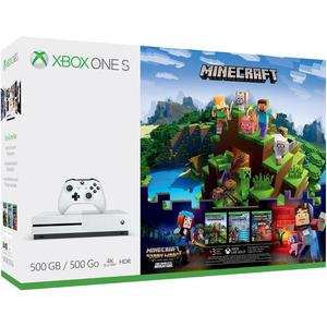 Console Xbox One S 500 GB + Controller + Minecraft - Wit