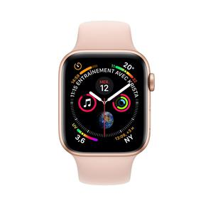 Apple Watch (Series 4) September 2018 40 mm - Aluminium Gold - Armband Sportarmband Rosa