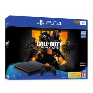 Console Sony Playstation 4 Slim 1 To + Manette + Jeu Call Of Duty Black ops 4 - Noir