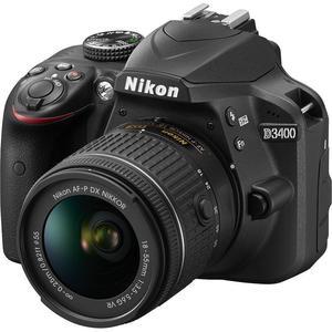 Reflex Nikon D3400 - Noir + Objectif Nikon AF-P DX Nikkor 18-55mm F3.5-5.6G VR