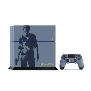 Console Playstation 4  Limited Edition Uncharted 4 1To + 1 manette  - Bleu/Gris