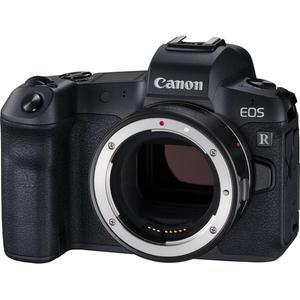 Hybrid-Kamera Canon EOS R Schwarz + Bajonettadapter EF-EOS R - Nur Gehäuse