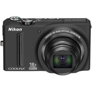 Kompakt Kamera Nikon Coolpix S9100 - Schwarz