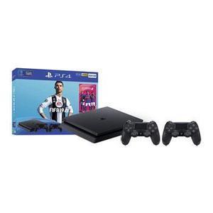 Console Sony PS4 Slim 500 Go + FIFA 19 + 2 Manettes Dualshock 4 - Noir