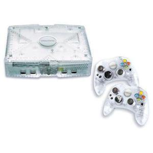 Console Crystal Xbox + 2 maniglie in cristallo ufficiali