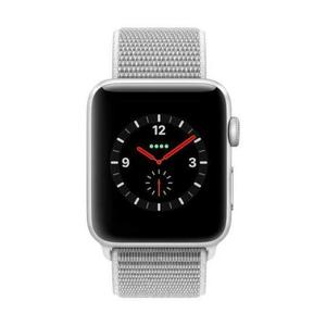 Apple Watch (Series 4) September 2018 44 mm - Aluminium Silber - Armband Grau