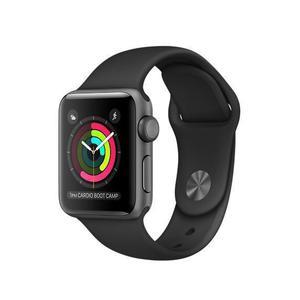 Apple Watch (Series 2) 2016 38 mm - Alluminio Grigio Siderale - Cinturino Sport Nike Nero