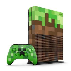 Console Xbox One S 1 To - Edition limité Minecraft - Vert/Marron