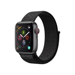 Apple Watch (Series 4) 40 - Aluminium Gris - Bracelet Boucle sport Noir