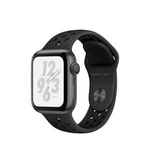 Apple Watch (Series 4) Septembre 2018 40 mm - Aluminium Noir - Bracelet Sport Nike Noir