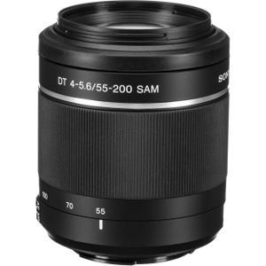 Lens Sony A DT 55-200 mm f/4-5.6 SAM - Zwart