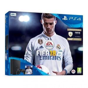 Console Sony PlayStation 4 Slim 500 Go + Manette  + FIFA 18 - Noir
