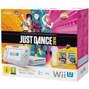 Nintendo Wii U Just Dance 2014 Basic Pack 8 GB -pelikonsoli + peliohjain + Just Dance 2014 + Nintendo Land -pelit - Valkoinen