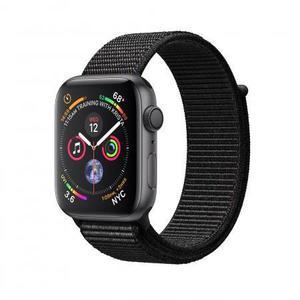 Apple Watch (Series 4) Syyskuu 2018 44 mm - Alumiini Tähtiharmaa - Armband Sport loop Musta