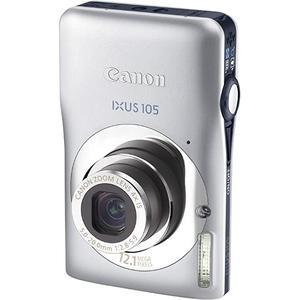 Compactcamera Canon IXUS 105 - Zilver + lens Canon Zoom Lens 5-20 mm f/2.8-5.9