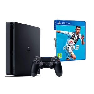 Console Sony Ps4 Slim 1 To + Fifa 19 - Noir