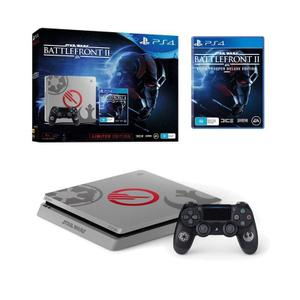 Console Sony PlayStation 4 Slim 1 TB + Controller + Star Wars Battlefront II - Grijs