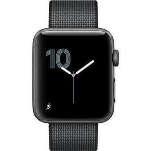 Apple Watch (Series 3) September 2017 42 mm - Aluminium Grau - Armband Nylonarmband Grau