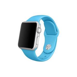 Apple Watch (Series 1) Septembre 2016 38 mm - Aluminium Argent - Bracelet Sport Bleu