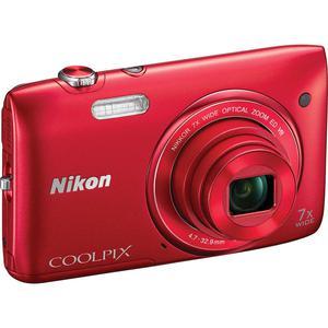 Compact Nikon Coolpix S3500 - Rood