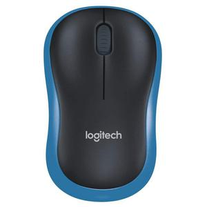Souris optique sans fil Logitech M185 - Bleu/Noir