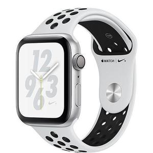 Apple Watch (Series 4) September 2018 40 - Aluminium Silver - Sport Nike Pure plainum/Black