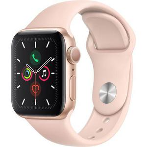 Apple Watch (Series 4) 2018 44 mm - Aluminium Gold - Armband Sportarmband Rosa