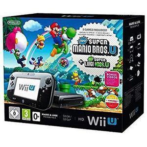Console Wii U Premium 32 Go  Pack Mario & Luigi - Noir