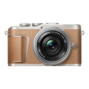 Hybride camera Olympus PEN E-PL9 - Bruin + Lens Olympus M.Zuiko Digital ED 14-42mm F3.5-5.6 EZ