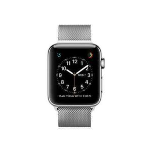 Apple Watch (Series 3) September 2017 38 mm - Rostfreier Stahl Aluminium - Armband Milanaise Armband Silber