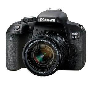 Reflex Canon EOS 800D - Negro + Lente EF-S 18-55mm IS