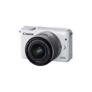Hybridikamera Canon EOS M10 - Valkoinen + objektiivi Canon EF-M 15-45 mm f/3.5-6.3 IS STM