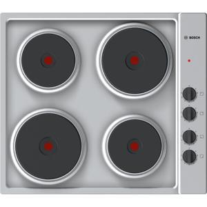 Table électrique 60 cm inox 4 foyers - Bosch Série 2 PEE689CA1